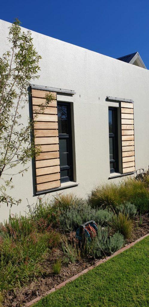 sliding shutters